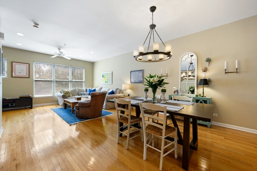 Real Estate Photography - 525 South Boulevard, Evanston, IL, 60202 - Living Room/Dining Room