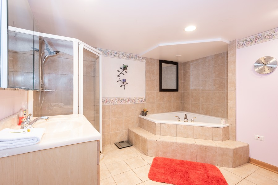 Real Estate Photography - 810 Pershing Ave, Wheaton, IL, 60189 - 2nd Bathroom