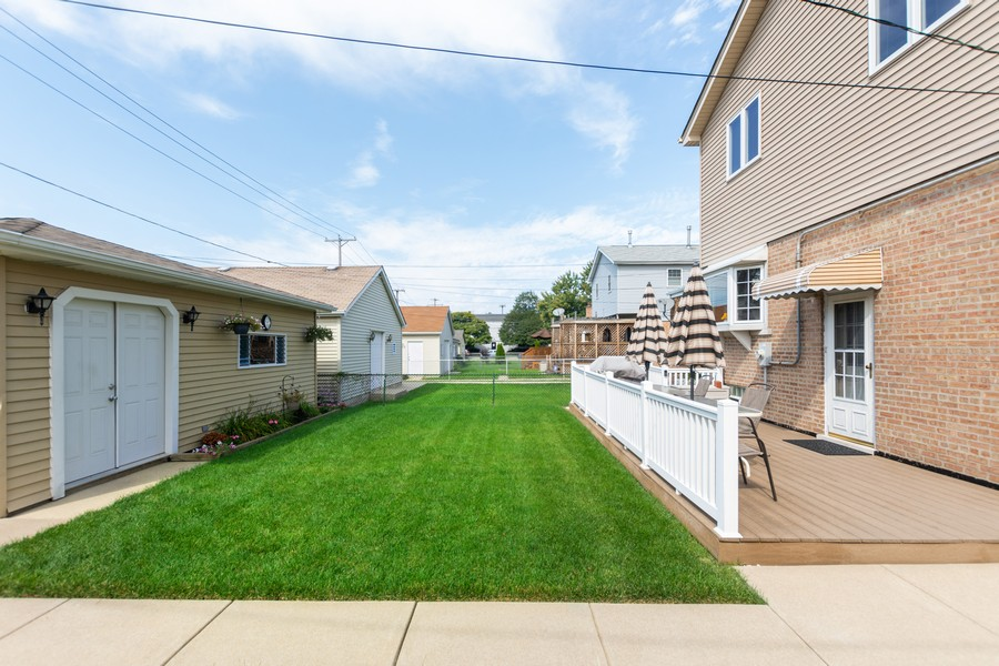 Real Estate Photography - 5118 s. Nagle, chicago, IL, 60638 - Back Yard