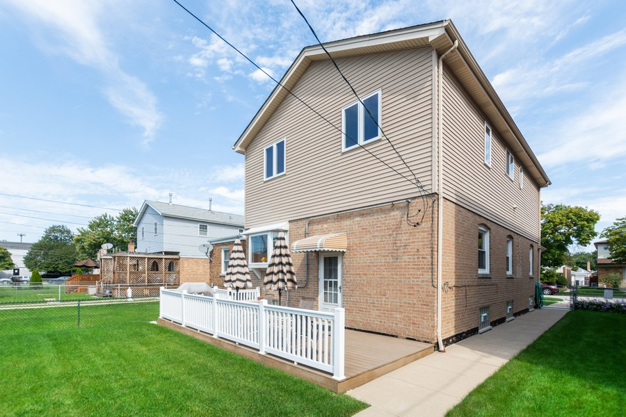 Real Estate Photography - 5118 s. Nagle, chicago, IL, 60638 - Rear View