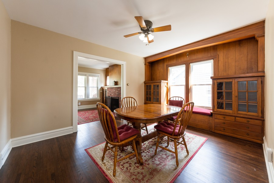 Real Estate Photography - 131 W. Russell Street, Barrington, IL, 60010 - LARGE DINING ROOM W/ORIGINAL BUILT-INS