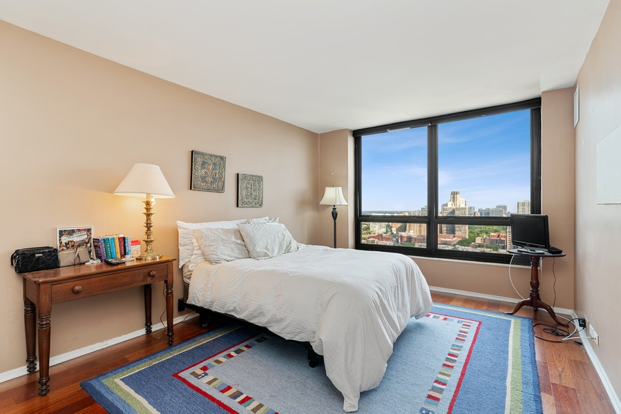 Real Estate Photography - 2020 N Lincoln Park West 26D, Chicago, IL, 60614 - Bedroom