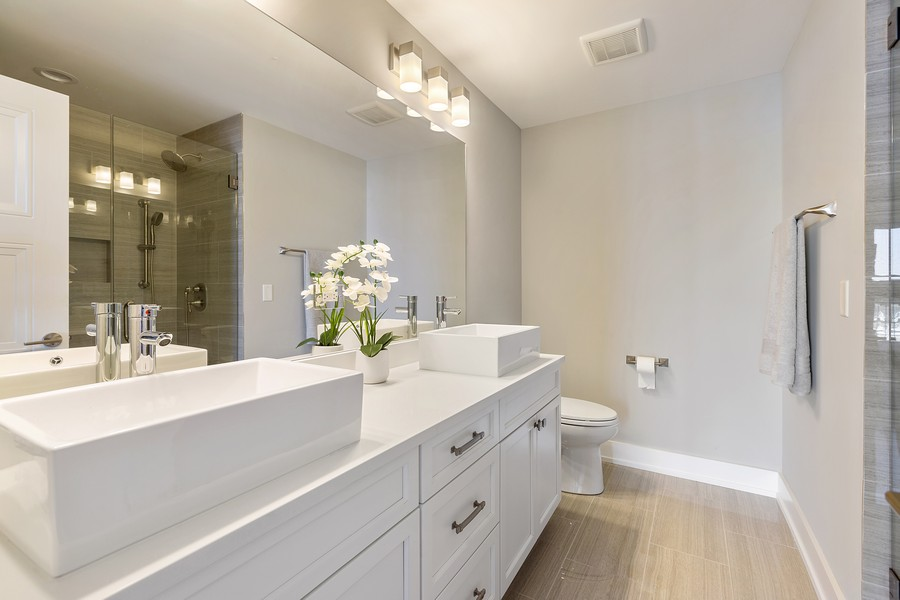 Real Estate Photography - 2514 W. Diversey, Chicago, IL, 60647 - Master Bathroom
