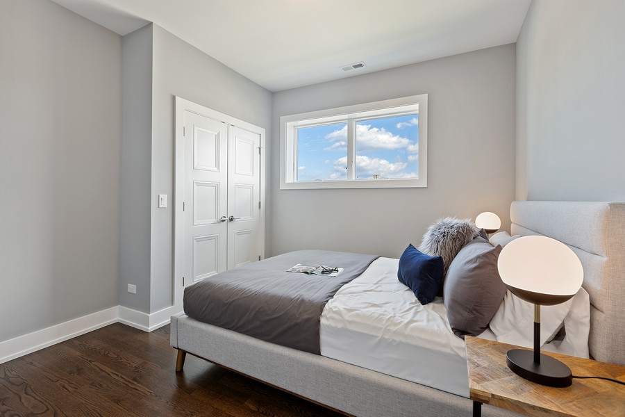 Real Estate Photography - 2514 W. Diversey, Chicago, IL, 60647 - 2nd Bedroom