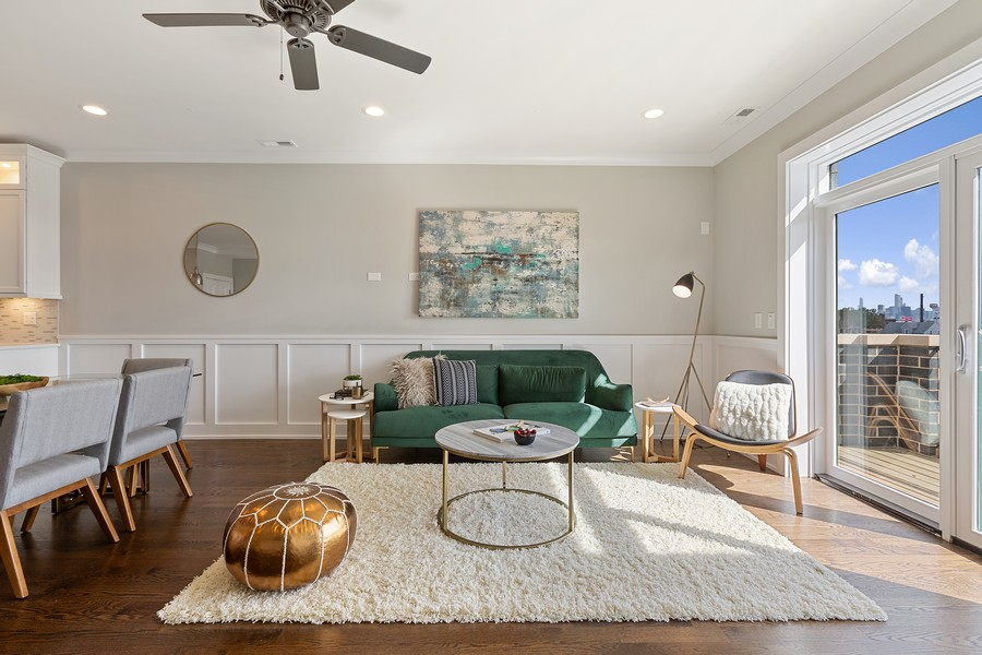 Real Estate Photography - 2514 W. Diversey, Chicago, IL, 60647 - Living Room
