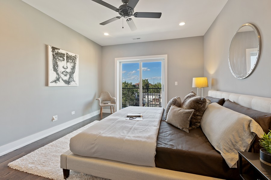 Real Estate Photography - 2514 W. Diversey, Chicago, IL, 60647 - Master Bedroom