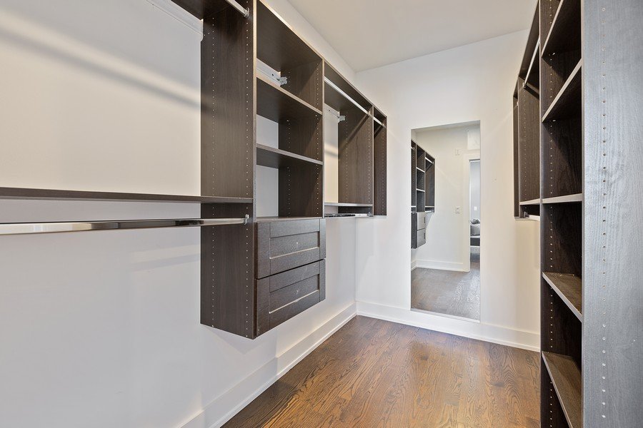 Real Estate Photography - 2514 W. Diversey, Chicago, IL, 60647 - Master Bedroom Closet