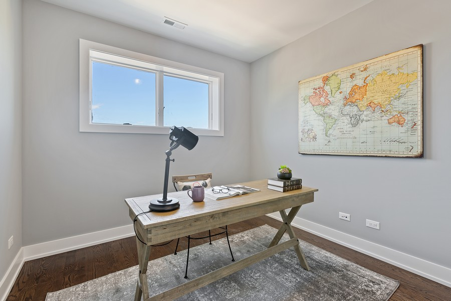 Real Estate Photography - 2514 W. Diversey, Chicago, IL, 60647 - 3rd Bedroom