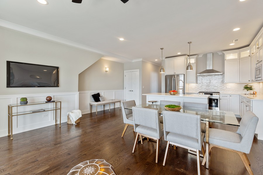 Real Estate Photography - 2514 W. Diversey, Chicago, IL, 60647 - Kitchen / Dining Room