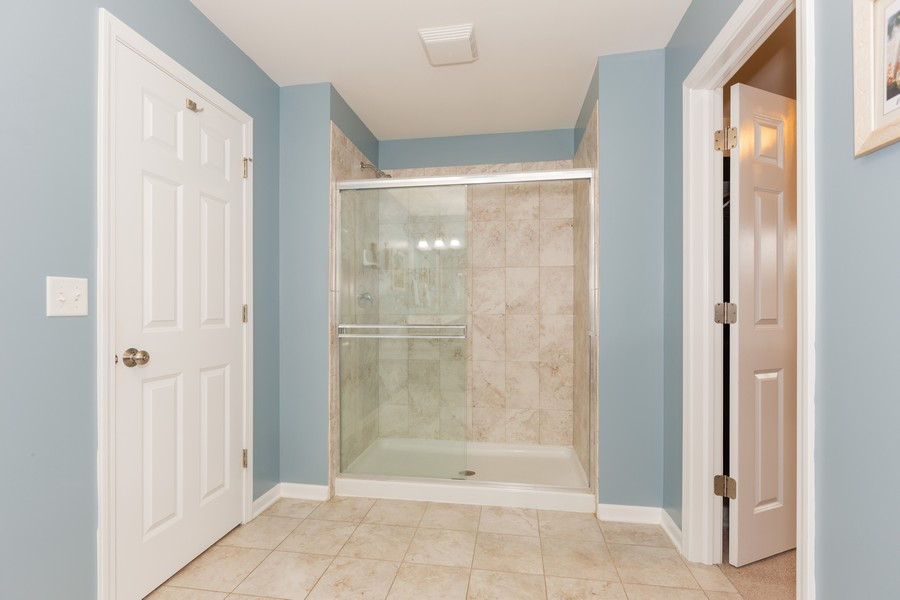 Real Estate Photography - 13705 Ann Drive, Lemont, IL, 60439 - Master Bathroom