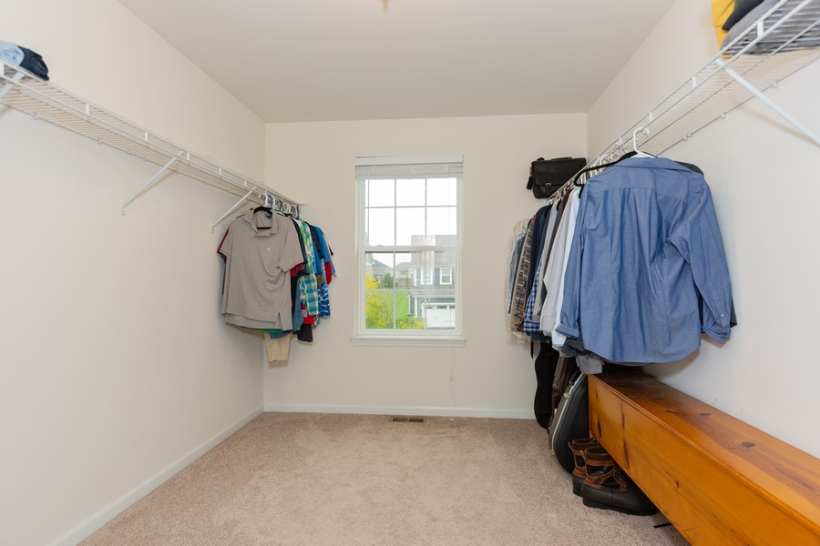 Real Estate Photography - 13705 Ann Drive, Lemont, IL, 60439 - Master Bedroom Closet