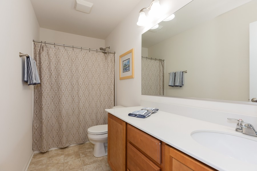 Real Estate Photography - 13705 Ann Drive, Lemont, IL, 60439 - 2nd Bathroom