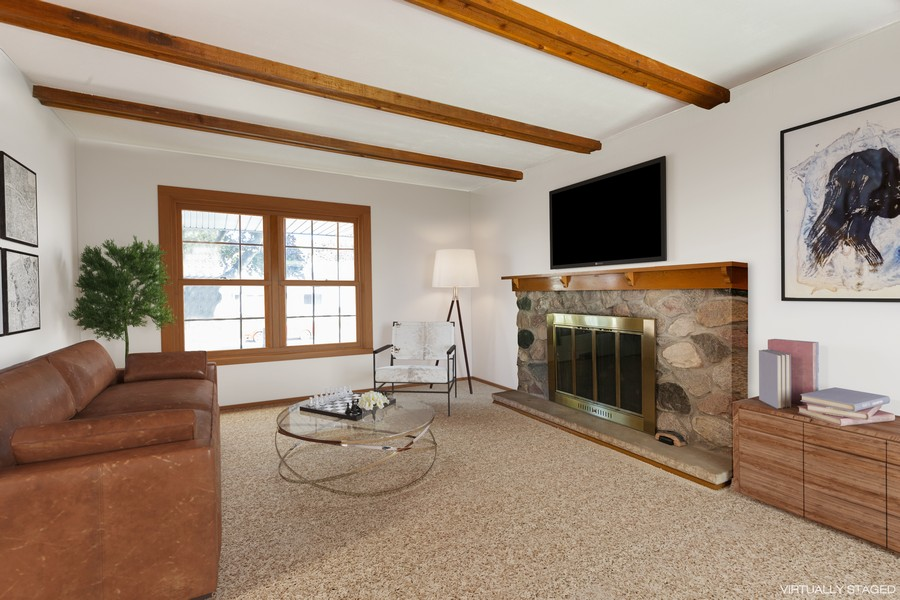 Real Estate Photography - 11919 W Locust St, Wauwatosa, WI, 53222 - Family room w/gas fireplace