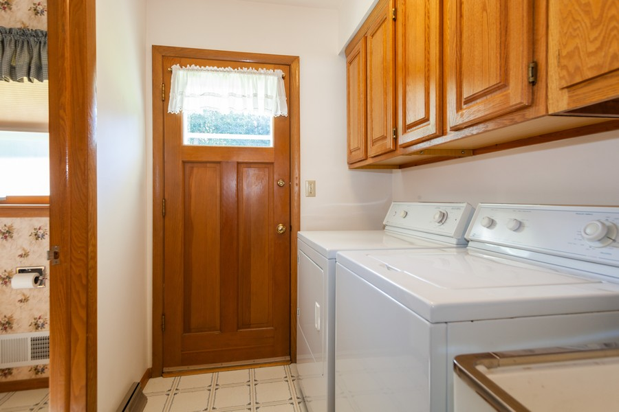 Real Estate Photography - 11919 W Locust St, Wauwatosa, WI, 53222 - First floor laundry