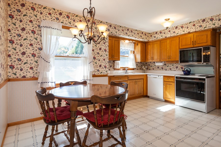 Real Estate Photography - 11919 W Locust St, Wauwatosa, WI, 53222 - South facing sunny eat-in kitchen