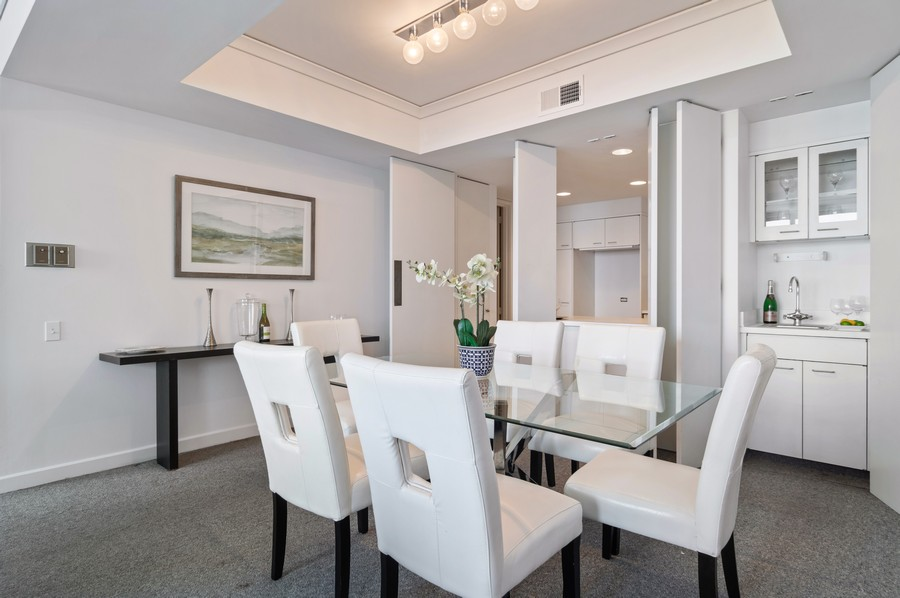 Real Estate Photography - 180 E Pearson St, Unit 4603, Chicago, IL, 60611 - Dining Room
