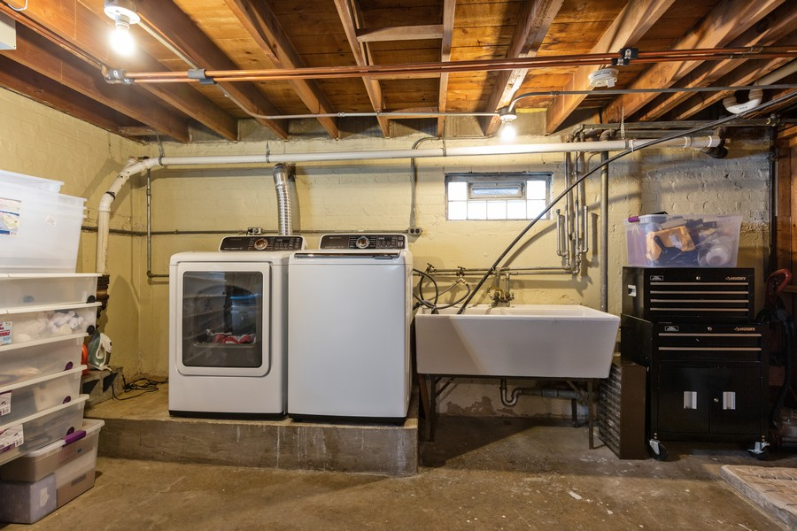 Real Estate Photography - 5519 S. Melvina Ave, Chicago, IL, 60638 - Laundry Room