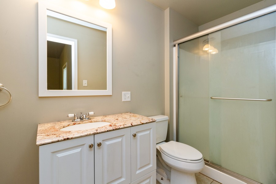 Real Estate Photography - 617 W River St, Momence, IL, 60954 - Master Bathroom