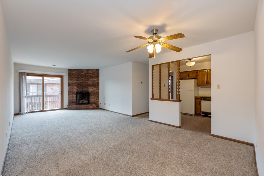 Real Estate Photography - 2117 45th Street #305, Highland, IN, 46322 - Living Room / Dining Room