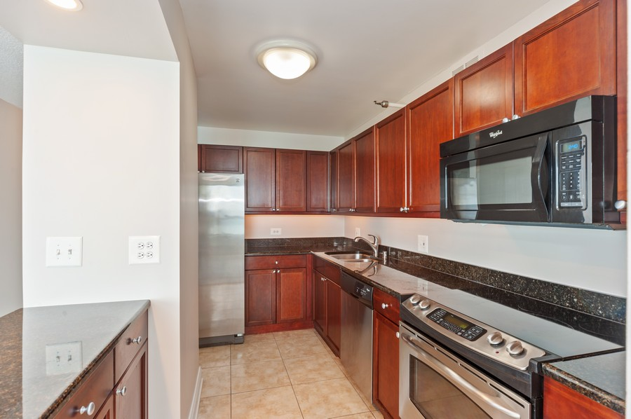 Real Estate Photography - 474 N Lake Shore Dr, #3305, Chicago, IL, 60611 - Kitchen