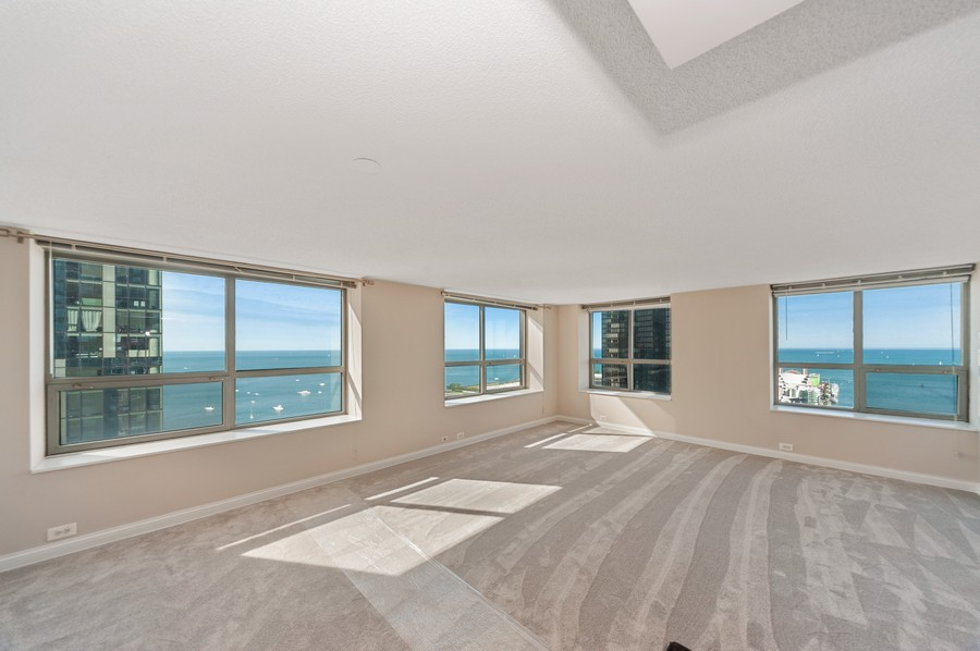 Real Estate Photography - 474 N Lake Shore Dr, #3305, Chicago, IL, 60611 - Living Room / Dining Room