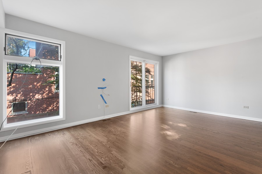 Real Estate Photography - 1648 N. Burling, #D, Chicago, IL, 60614 - Living Room