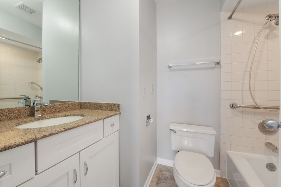 Real Estate Photography - 1648 N. Burling, #D, Chicago, IL, 60614 - 2nd Bathroom
