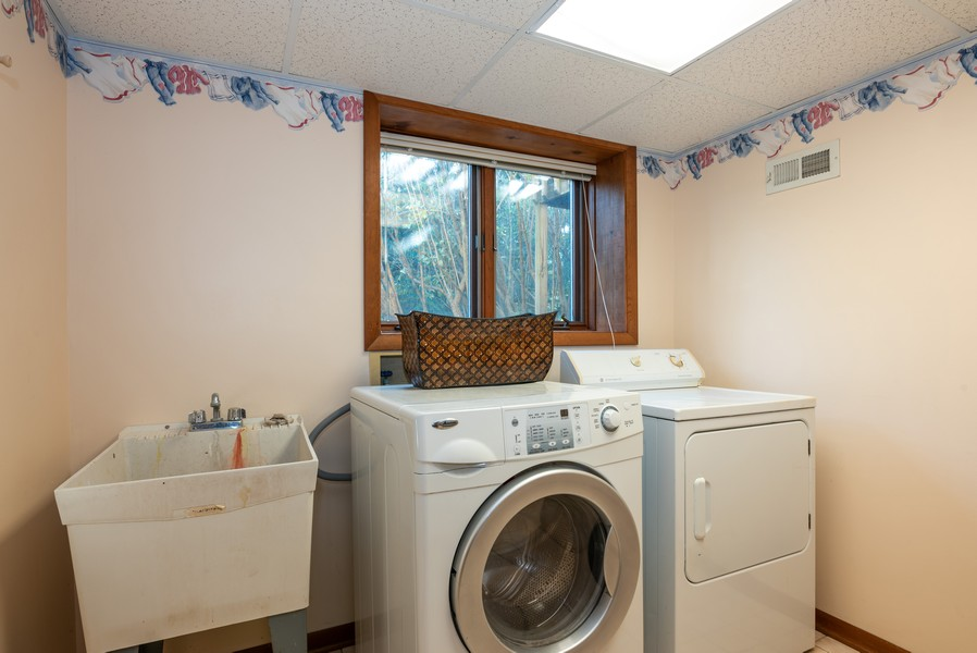 Real Estate Photography - 803 Surrey Lane, Algonquin, IL, 60102 - Laundry Room