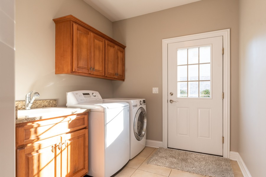 Real Estate Photography - 11082 Siena Drive, Frankfort, IL, 60423 - Laundry Room
