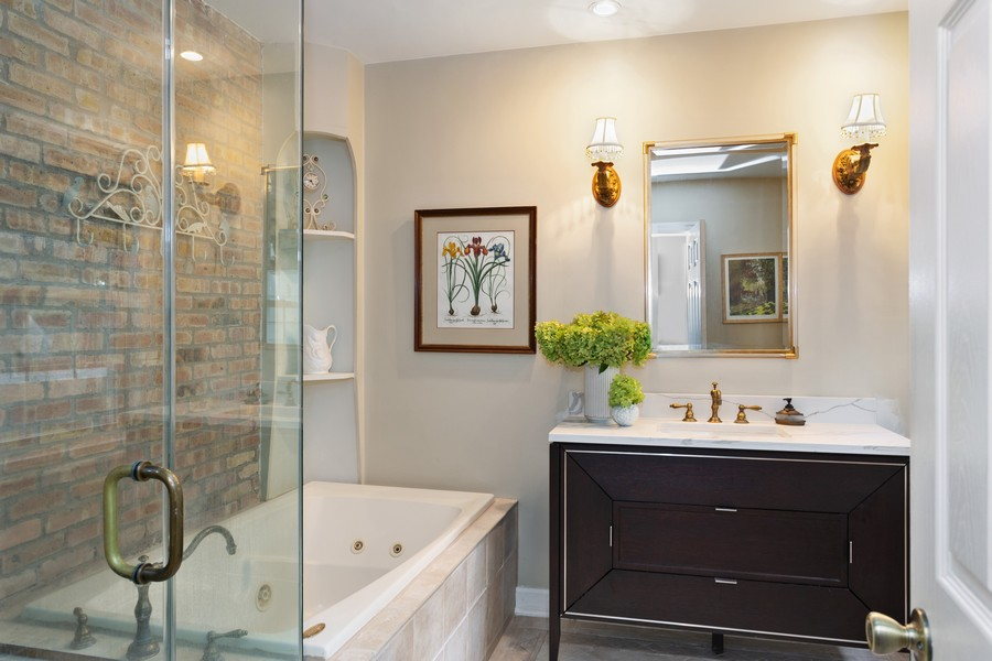 Real Estate Photography - 2311 Larchmont, Long Beach, IN, 46360 - Master Bathroom