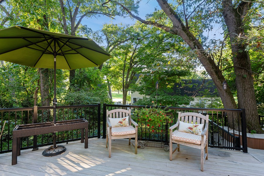 Real Estate Photography - 2311 Larchmont, Long Beach, IN, 46360 - Deck