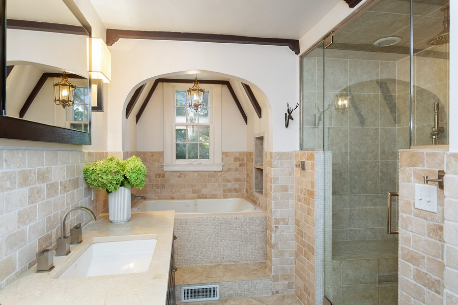 Real Estate Photography - 2311 Larchmont, Long Beach, IN, 46360 - Bathroom