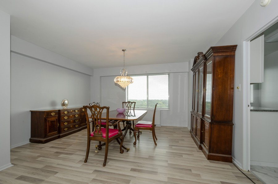 Real Estate Photography - 7141 N Kedzie, Unit 1516, Chicago, IL, 60645 - Dining Room