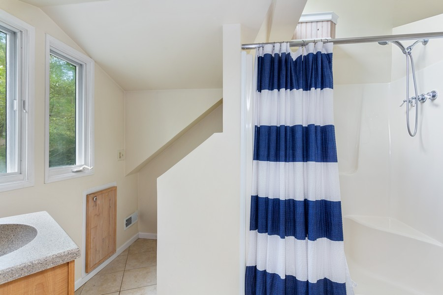 Real Estate Photography - 213 Pokagon, Michiana Shores, IN, 46360 - Master Bathroom