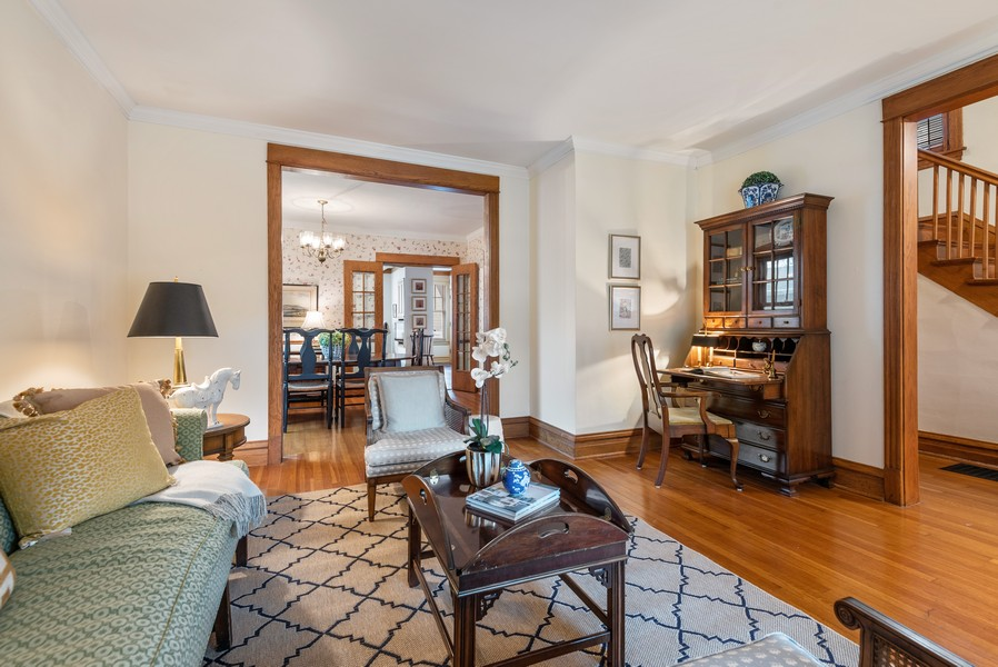Real Estate Photography - 1621 Lake Ave., Wilmette, IL, 60091 - Living Room