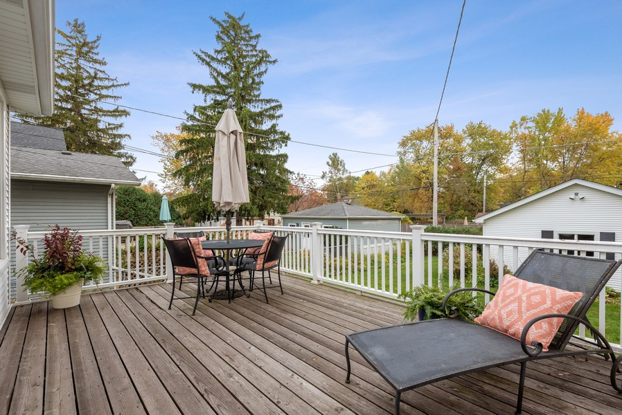 Real Estate Photography - 1621 Lake Ave., Wilmette, IL, 60091 - Deck
