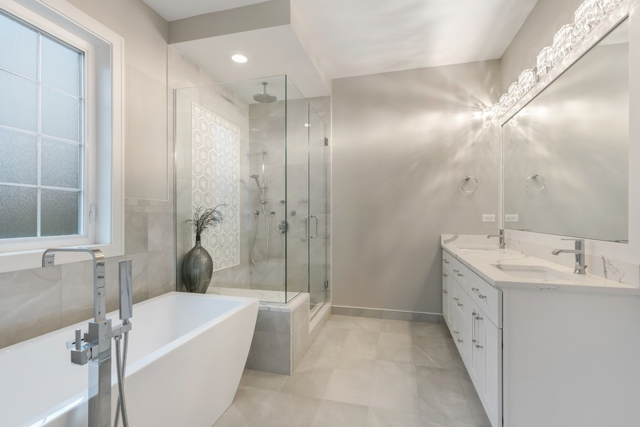 Real Estate Photography - 4959 S St Lawrence Ave, Chicago, IL, 60615 - Master Bathroom