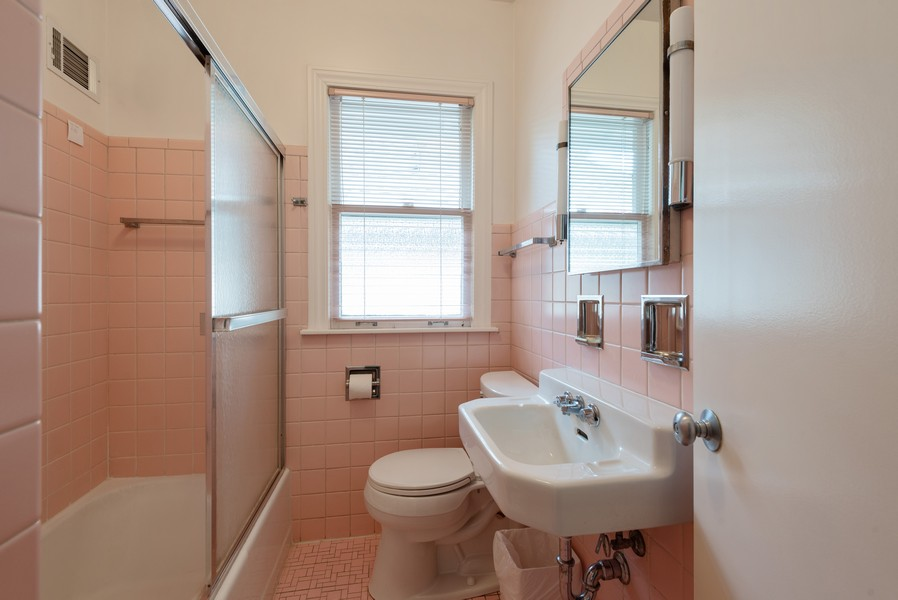 Real Estate Photography - 2329 Ridge, Evanston, IL, 60201 - Bathroom