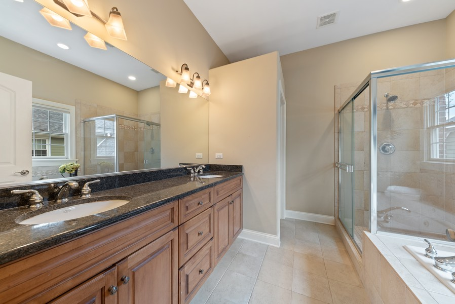 Real Estate Photography - 827 N. Princeton, Arlington Heights, IL, 60004 - Master Bathroom