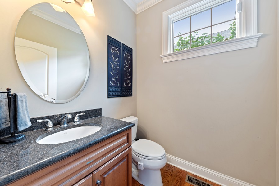 Real Estate Photography - 827 N. Princeton, Arlington Heights, IL, 60004 - Powder Room