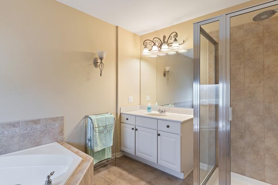 Real Estate Photography - 29930 Trim Creek Lane, Beecher, IL, 60401 - Master Bathroom