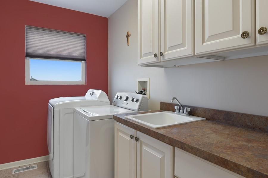 Real Estate Photography - 29930 Trim Creek Lane, Beecher, IL, 60401 - Laundry Room