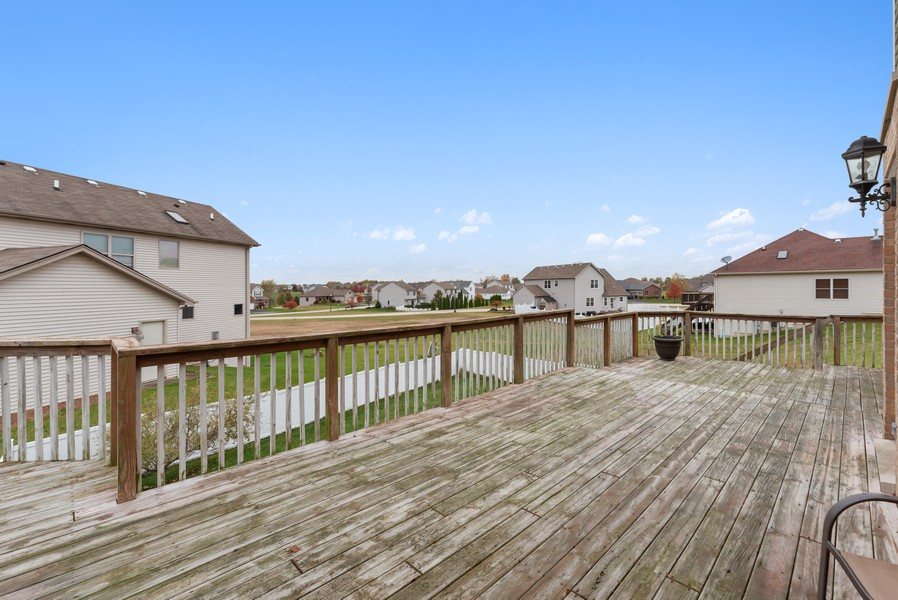 Real Estate Photography - 29930 Trim Creek Lane, Beecher, IL, 60401 - Deck