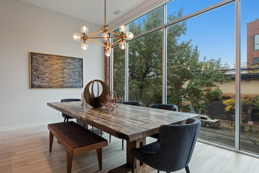 Real Estate Photography - 1012 W Lake St #2, Chicago, IL, 60607 - Dining Area