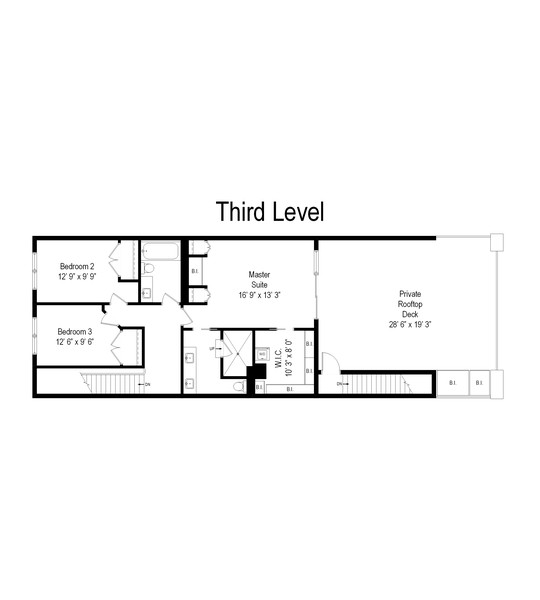 Real Estate Photography - 1012 W Lake St #2, Chicago, IL, 60607 - Floor Plan