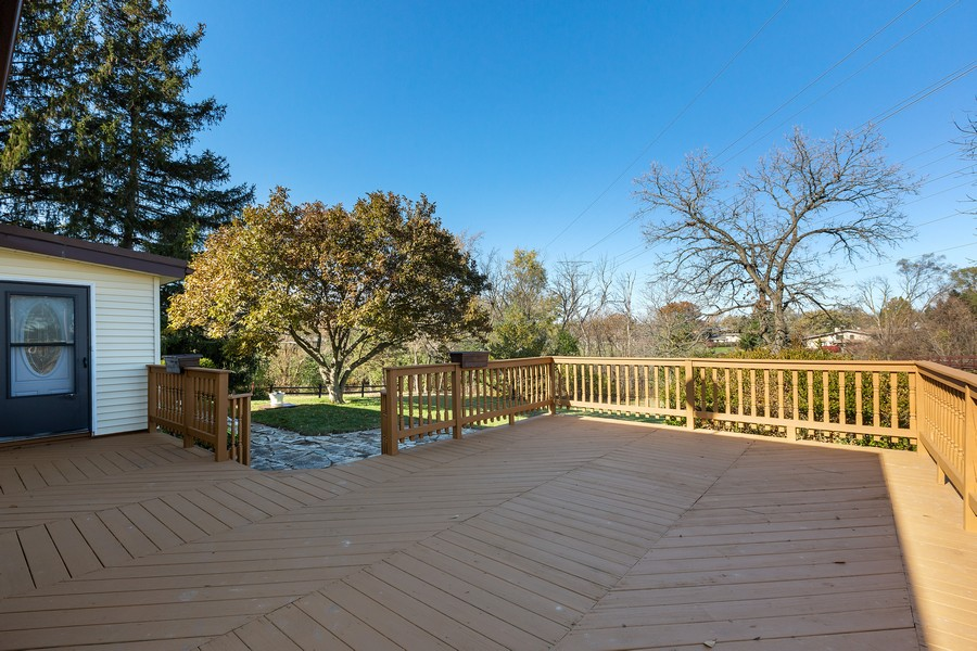 Real Estate Photography - 7630 W. 131st Street, Palos Heights, IL, 60463 - Deck