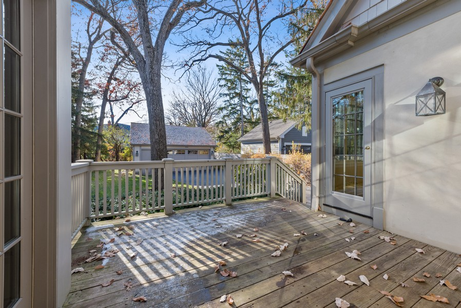 Real Estate Photography - 892 Valley Rd, Glencoe, IL, 60022 - Deck
