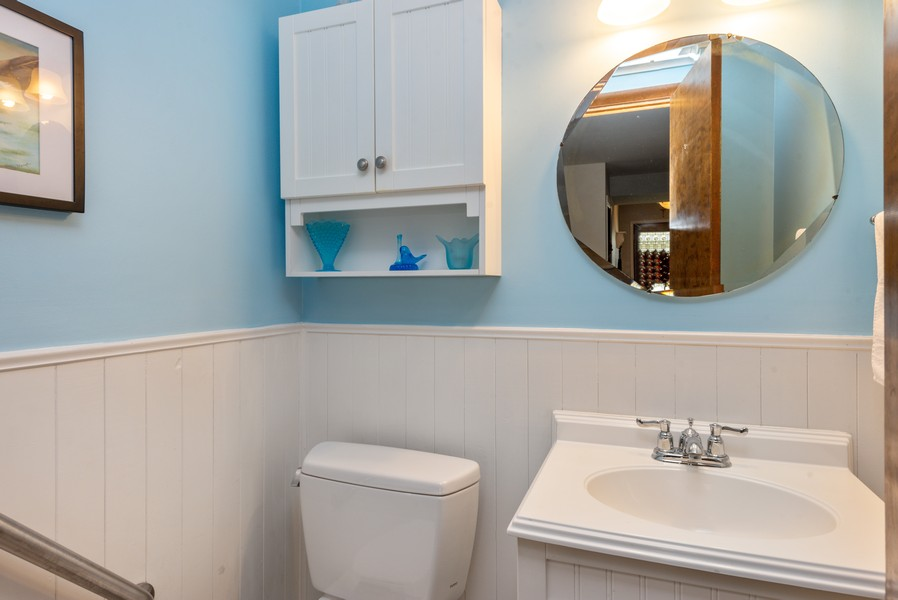 Real Estate Photography - 7842 Frederick Ave., Munster, IN, 46321 - Powder Room