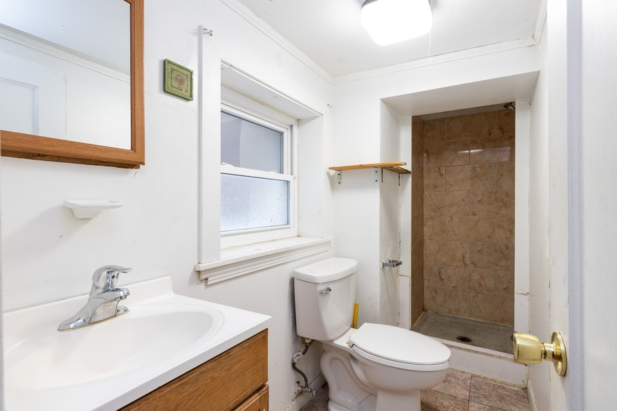Real Estate Photography - 6112 S Kedvale Ave, Chicago, IL, 60629 - 3rd Bathroom