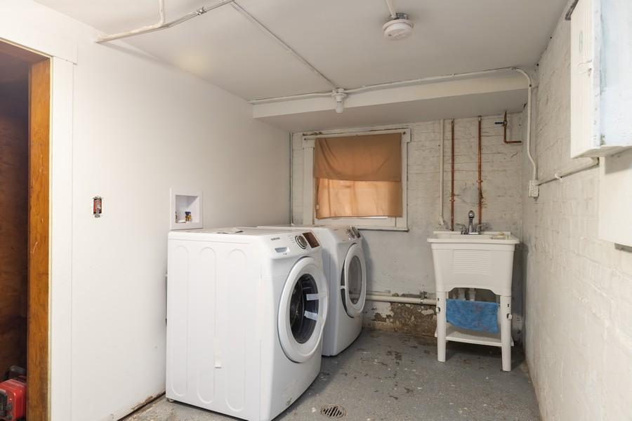 Real Estate Photography - 6112 S Kedvale Ave, Chicago, IL, 60629 - Laundry Room